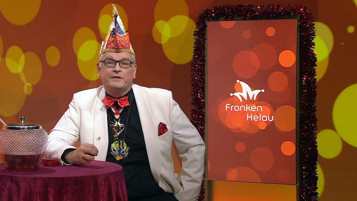 Ludwig Paul auf der Bühne von Franken Helau.