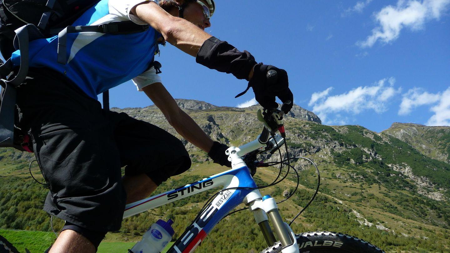 Mountainbiker (Symbolbild)