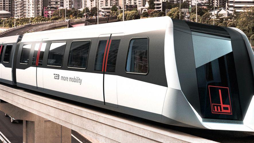 Modell von Transport System Bögl
