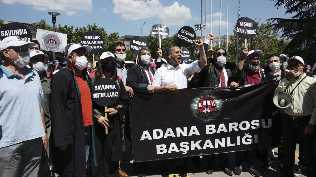 Protest von Anwälten in Ankara