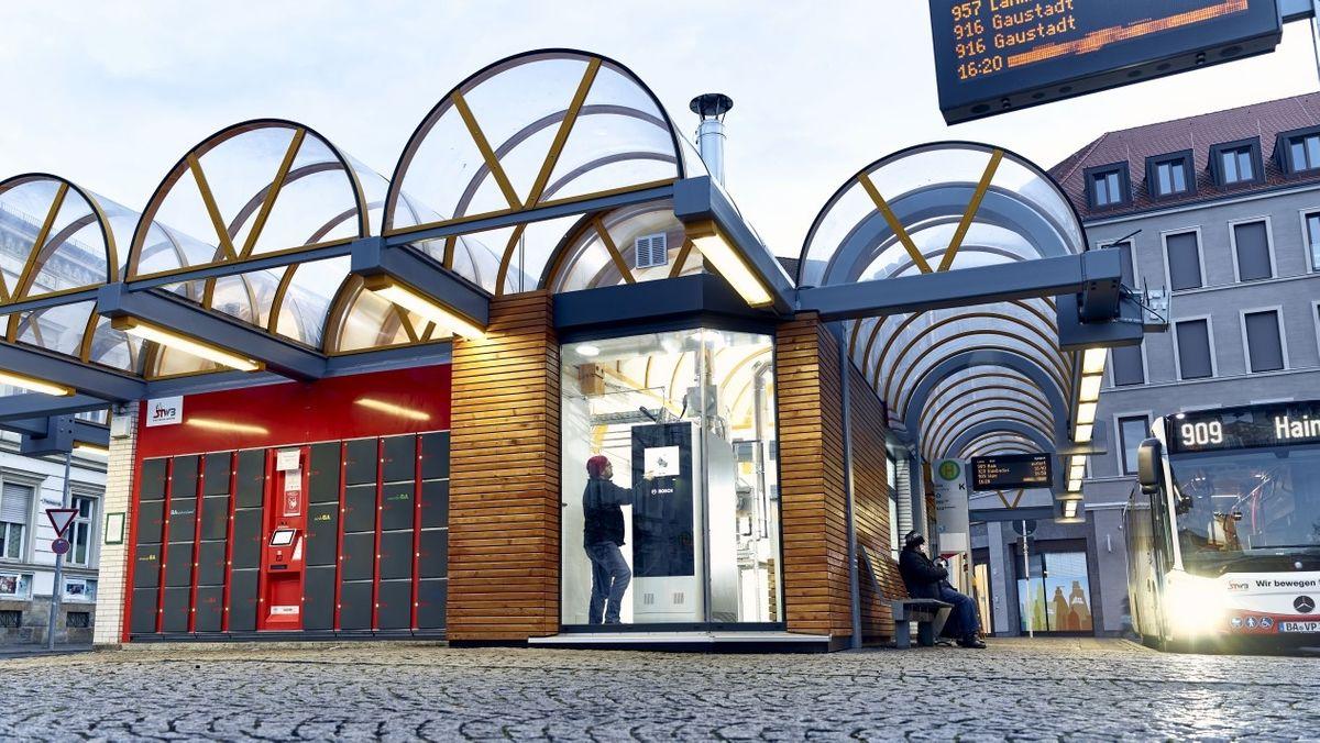 Am Zentralen Omnibus-Bahnhof in Bamberg wird eine Brennstoffzelle getestet.