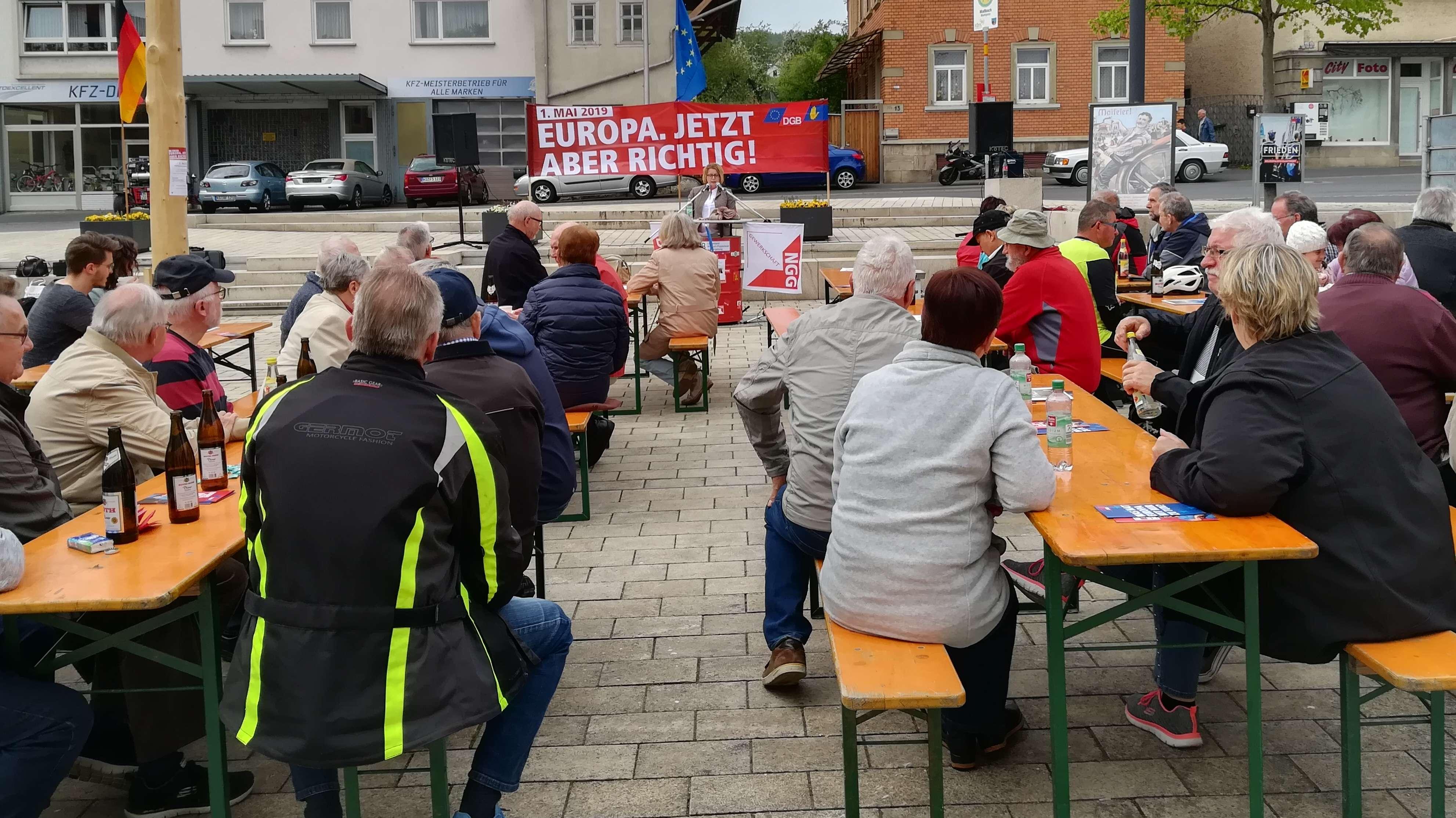 Kundgebung am 1. Mai in Maßbach