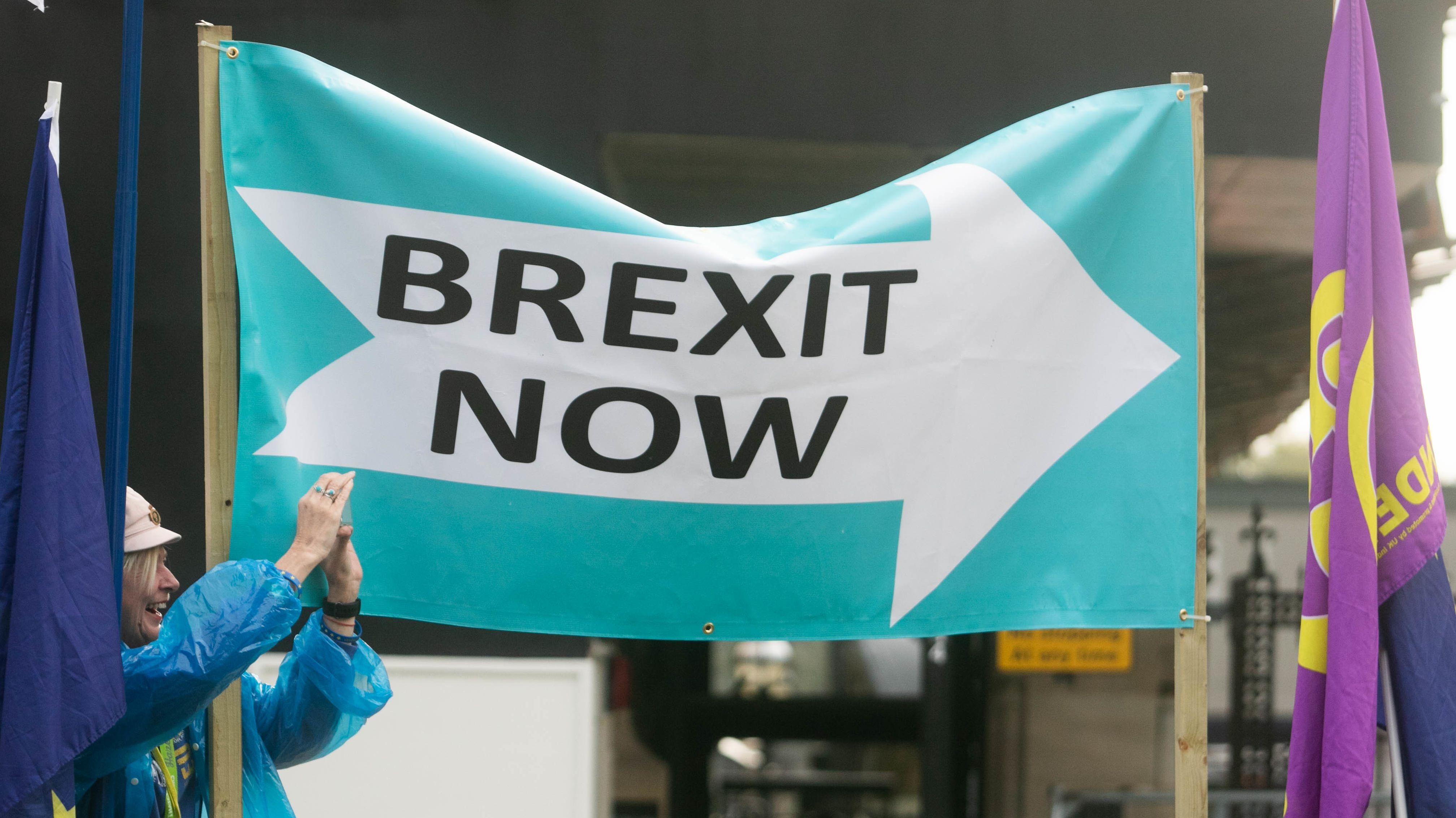 Symbolbild von Brexit-Befürwortern