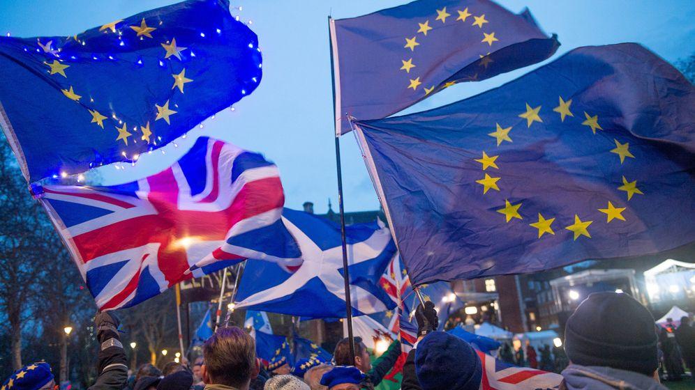 Pro-Brexit Demo in London (Archivbild) | Bild:dpa-Bildfunk