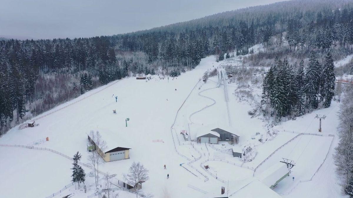 Die Talstation Nord am Ochsenkopf im Winter.