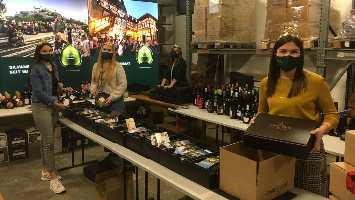 Die Fränkischen Weinhoheiten verpacken Wein