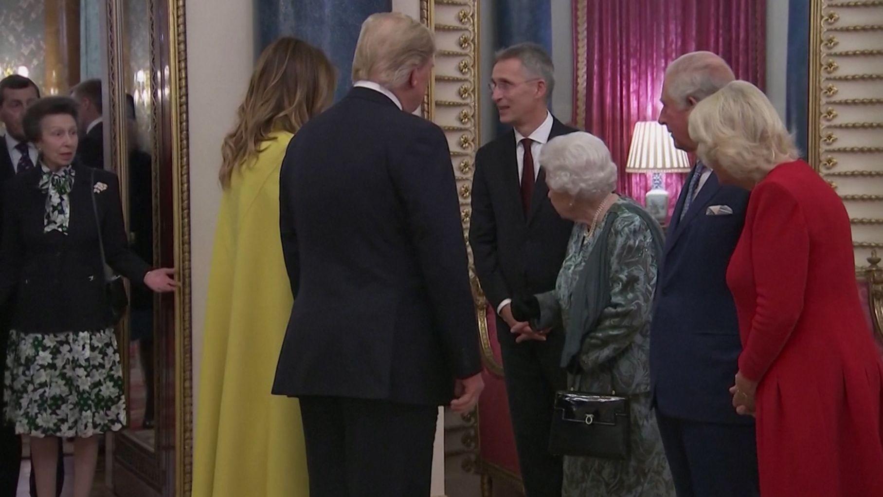 Empfang der Nato-Partner im Buckingham-Palast