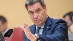 Markus Söder (CSU), Ministerpräsident von Bayern, spricht am 8. Mai 2019 im Plenarsaal während der Sitzung des bayerischen Landtags | Bild:pa/dpa/Peter Kneffel