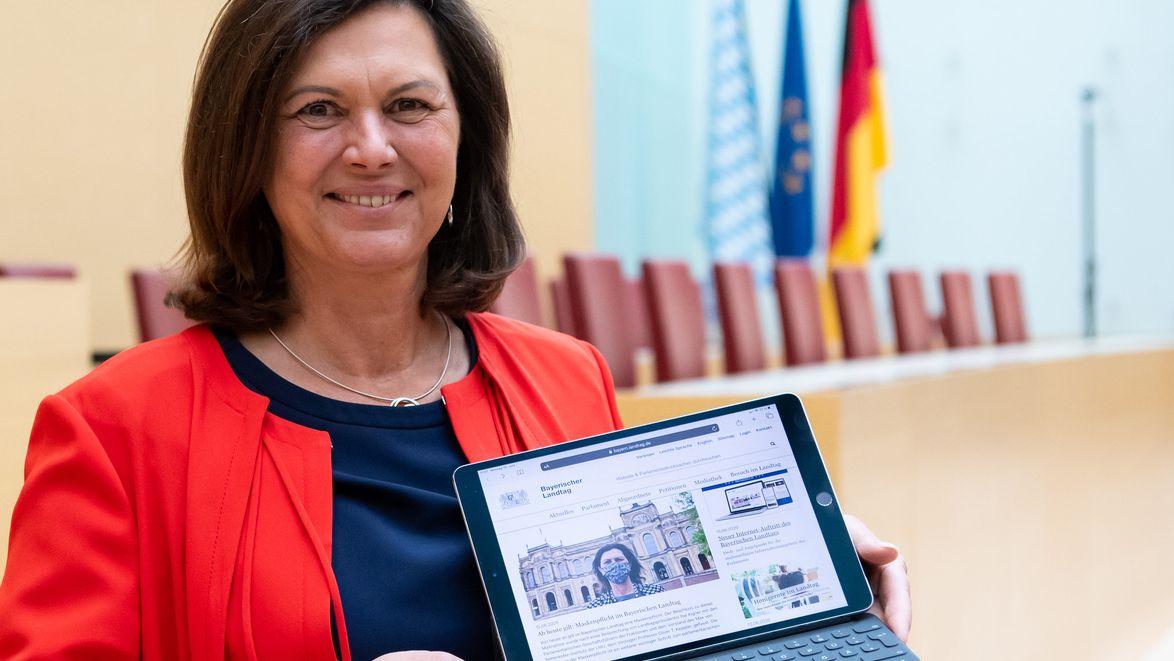 Auch für die mobile Nutzung optimiert - die neue Landtags-Homepage