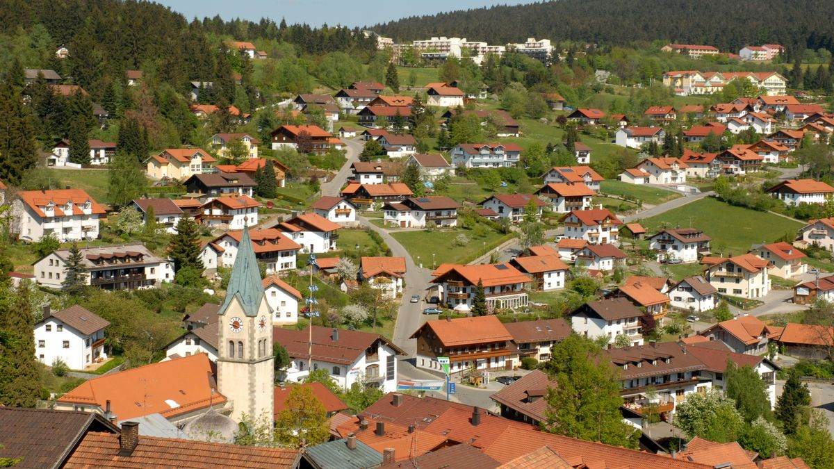 Der Tourismusort St. Englmar im Bayerischen Wald