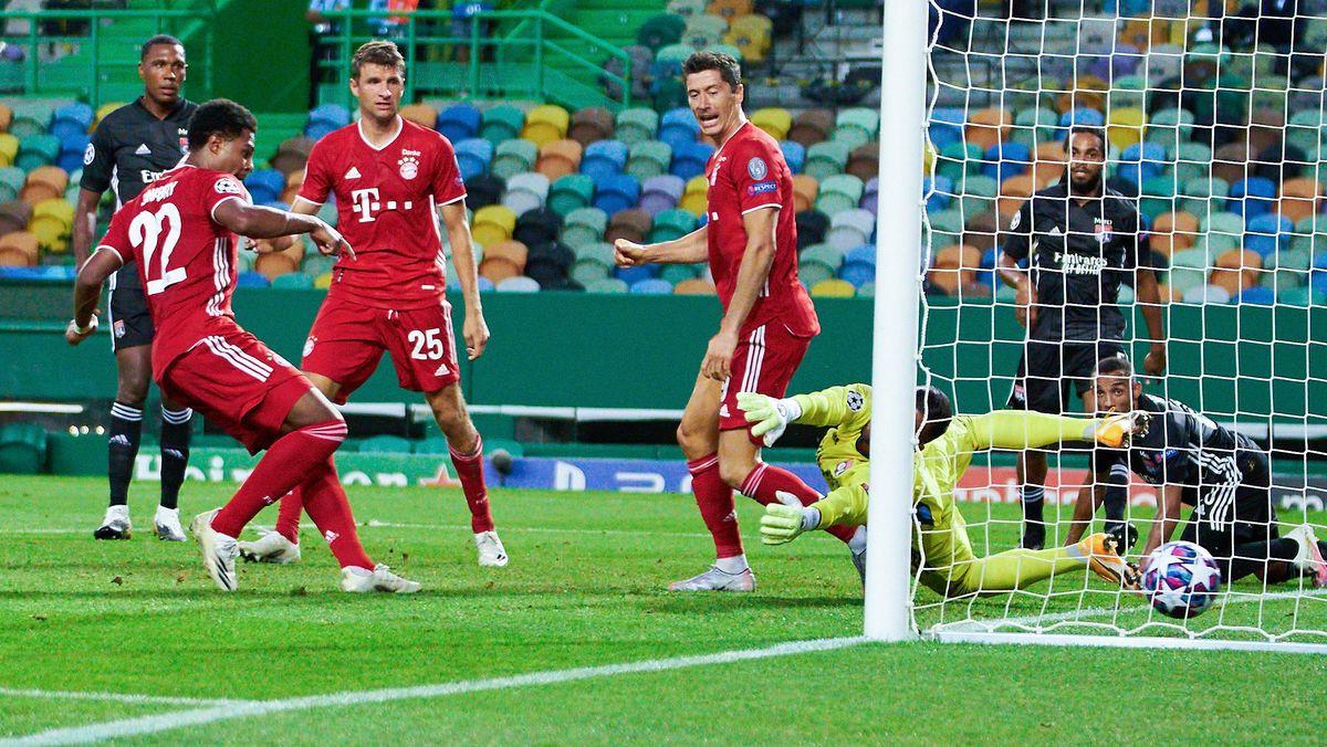 Spielszene Lyon - München