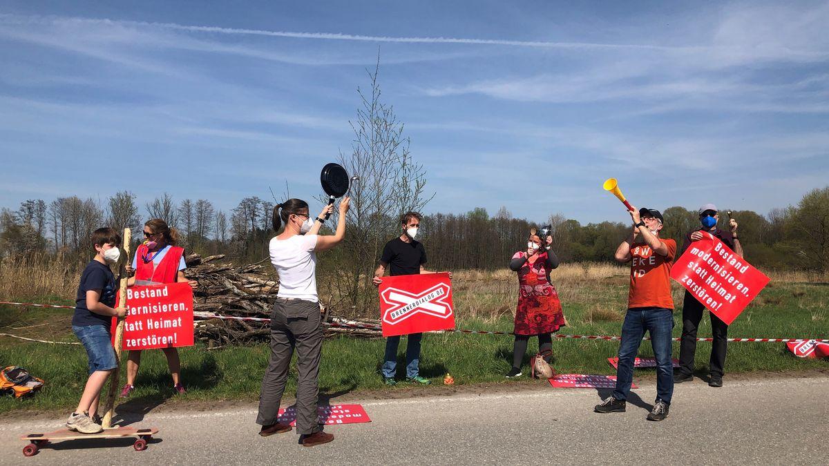 Demo gegen den geplanten Brenner-Nordzulauf am 24.04.2021 im Inntal.
