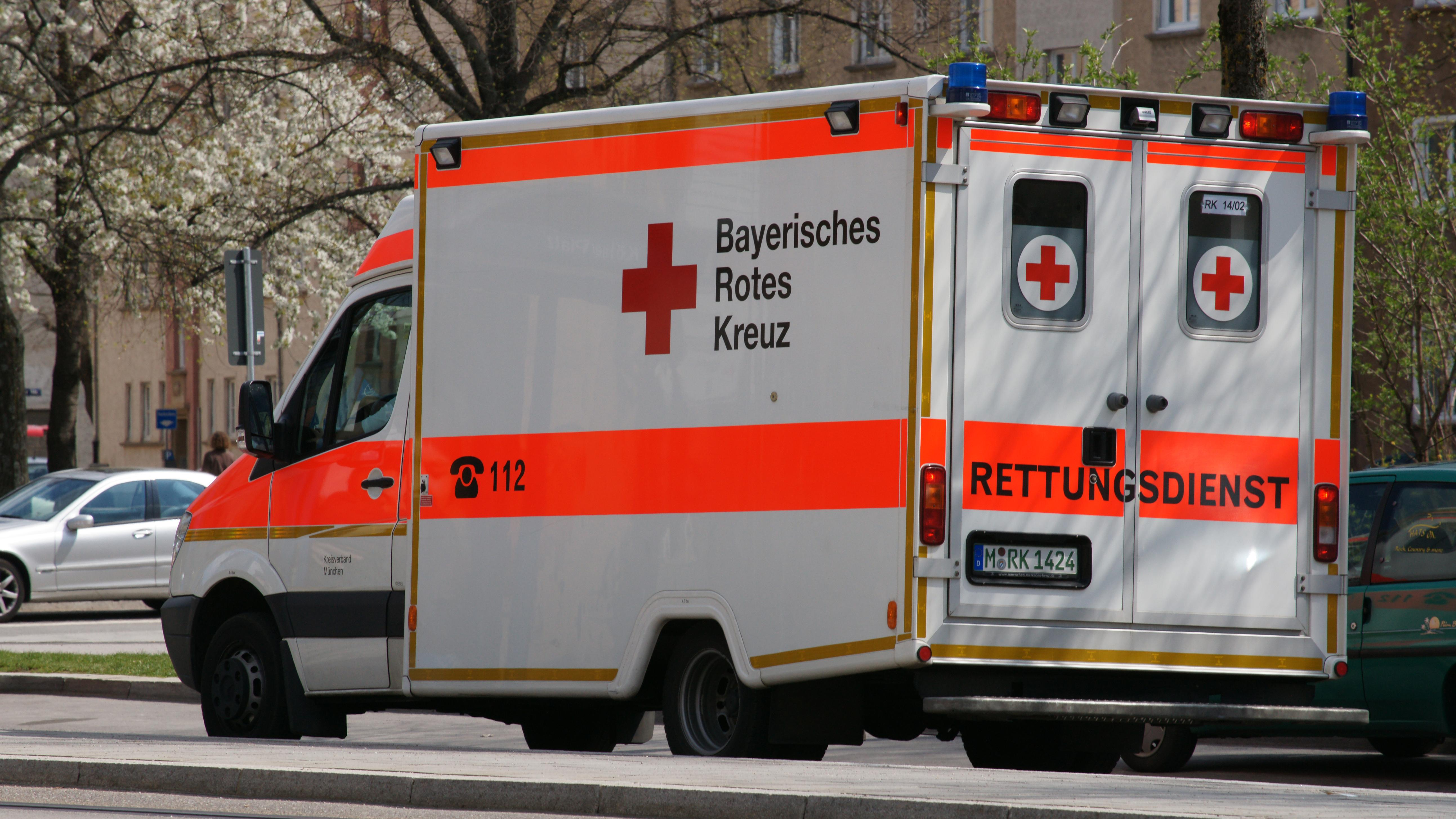 Rettungswagen des Bayerischen Roten Kreuzes