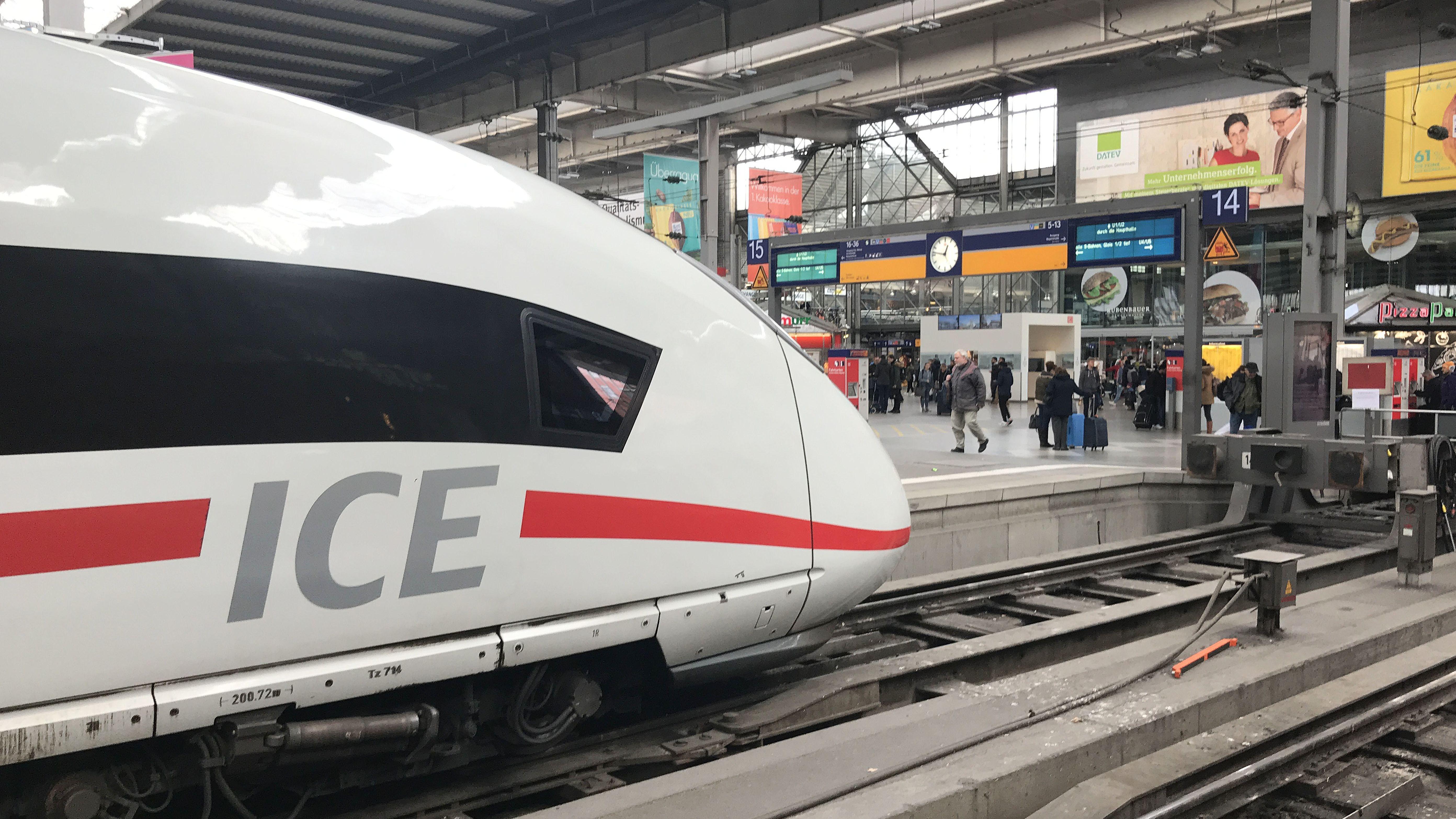 Einfahrender ICE am Münchner Hauptbahnhof (Archivbild).
