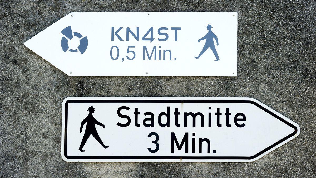 Wegweiser in Landshut.