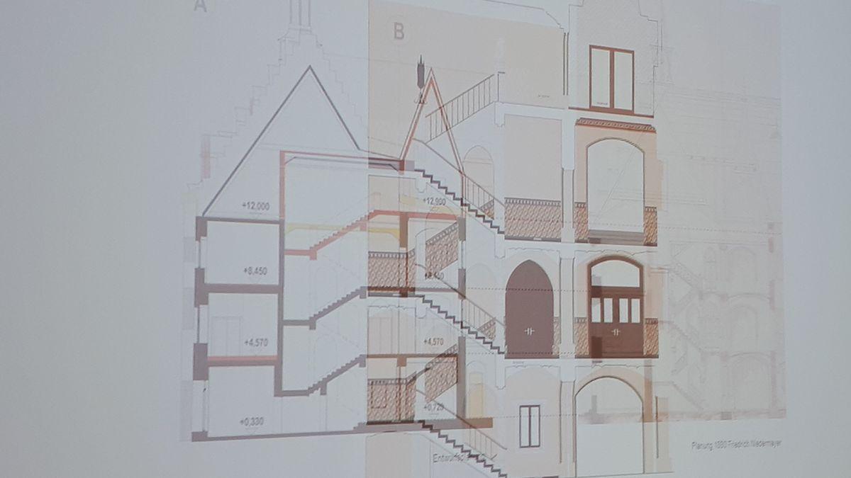 Die Wiederaufbau-Planung des Straubinger Rathauses