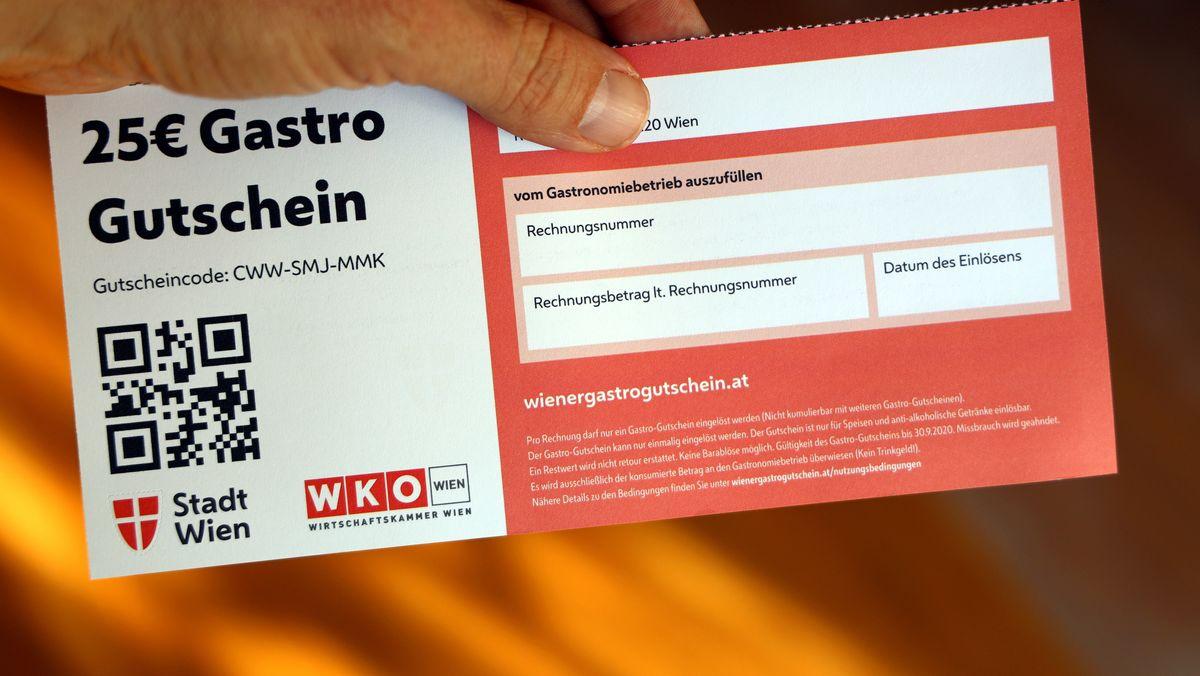 Die Stadt Wien hat es vorgemacht: Gastro-Gutscheine zur Unterstützung der örtlichen Verzehrbetriebe