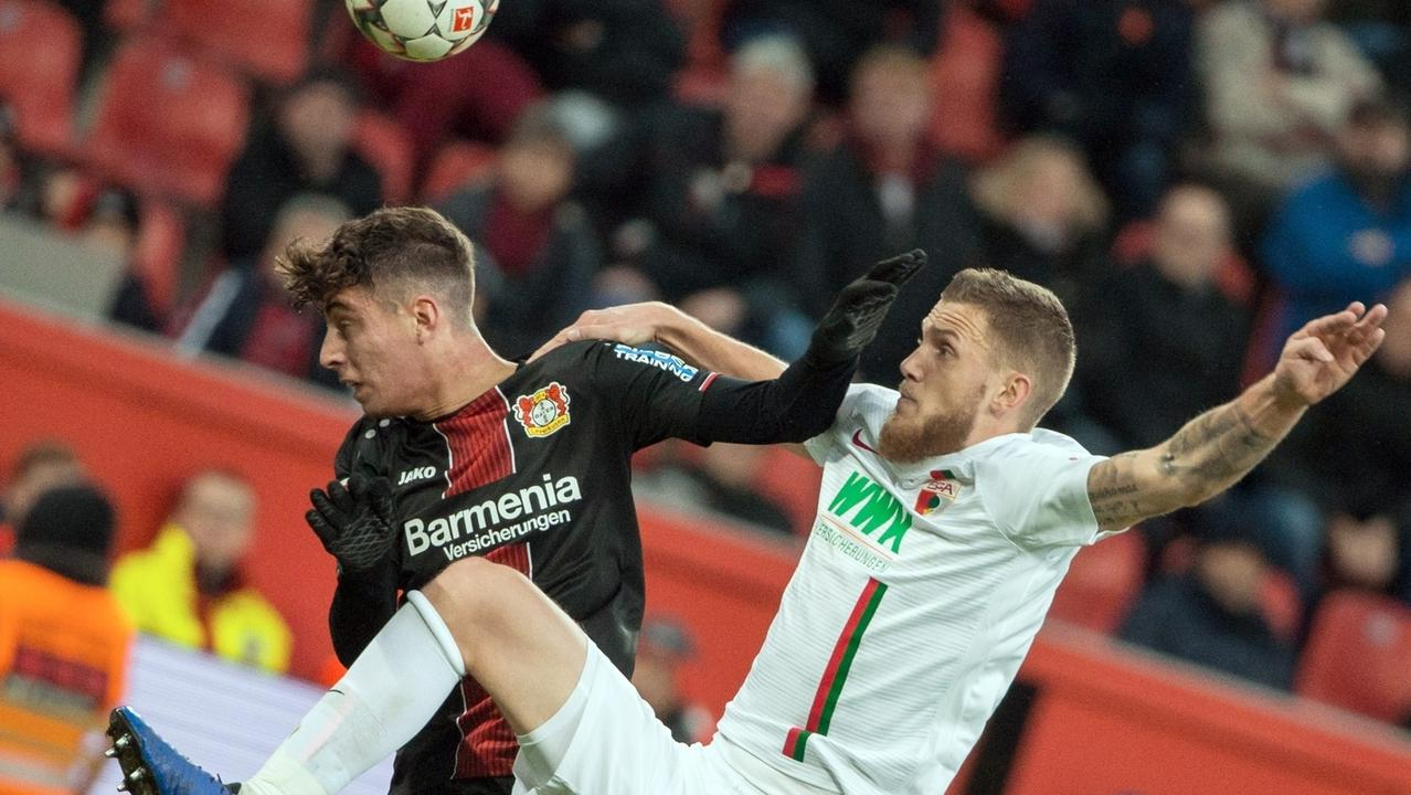 Spielszene Leverkusen gegen Augsburg