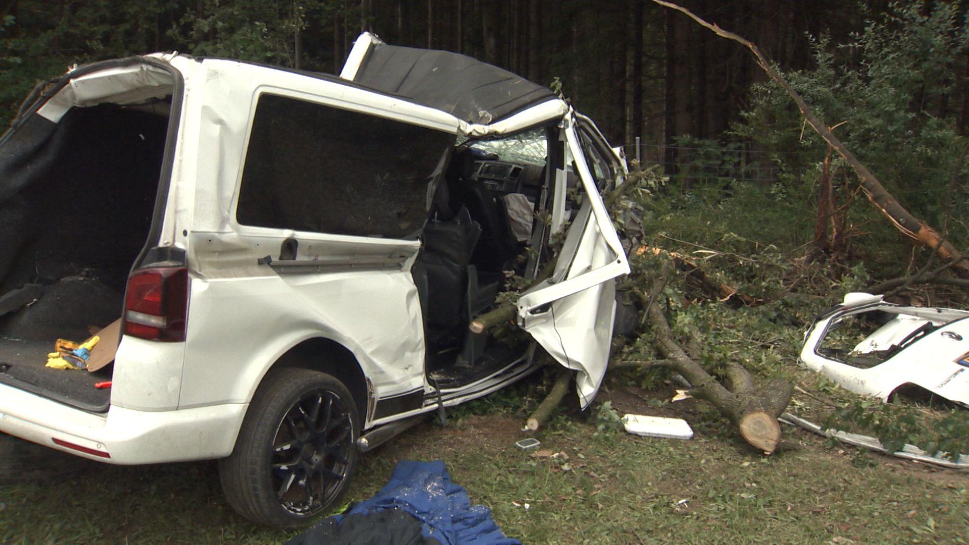Unfall auf A8 bei Brunnthal