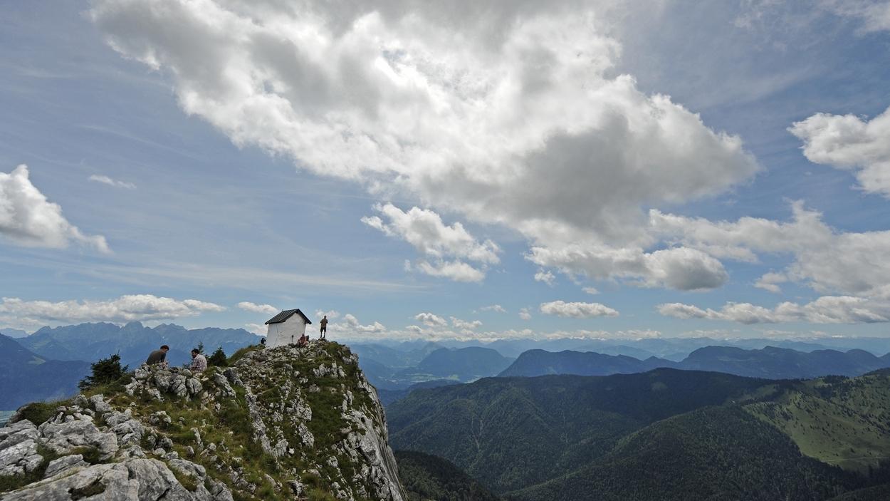 Der Brünnstein in den oberbayerischen Alpen.