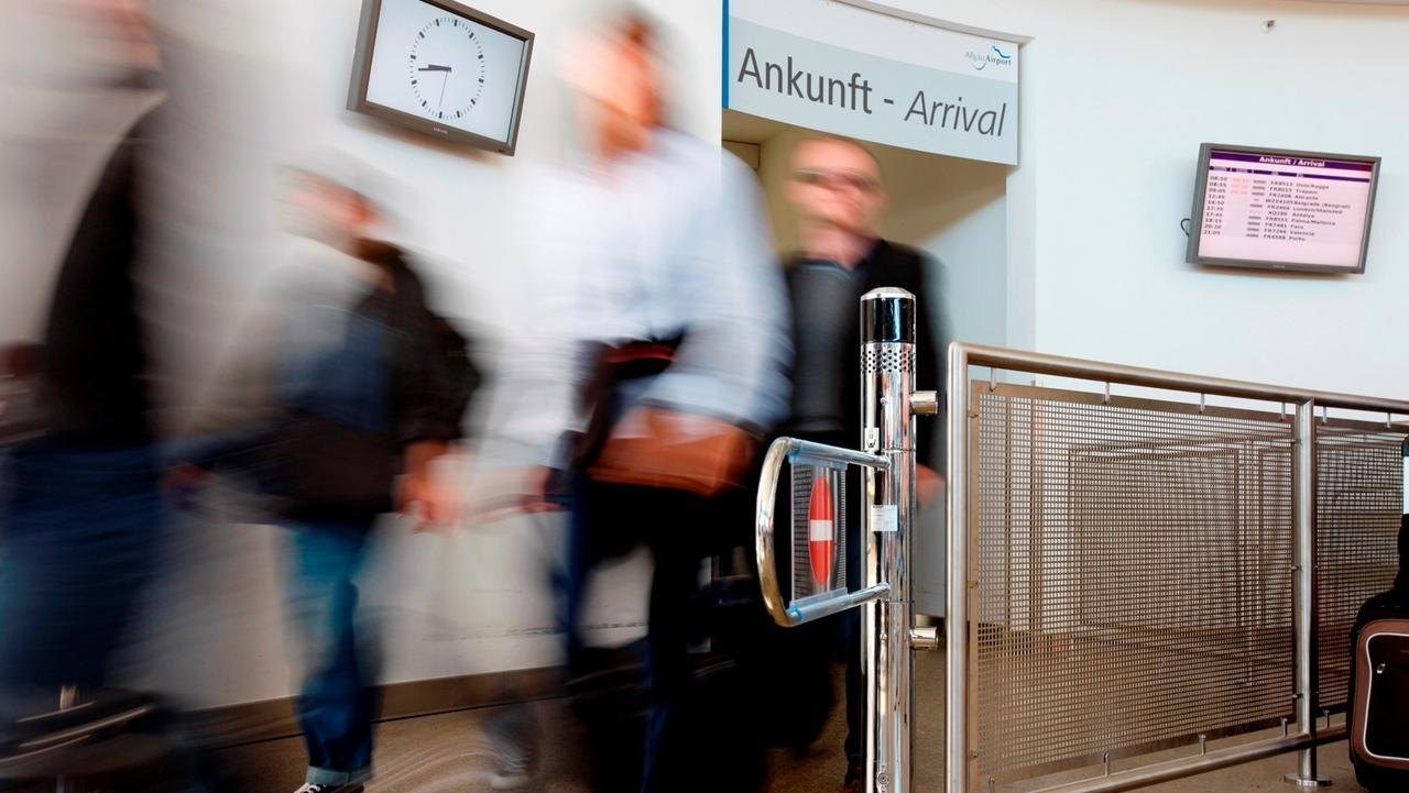 Ankunft Allgäu Airport Memmingen