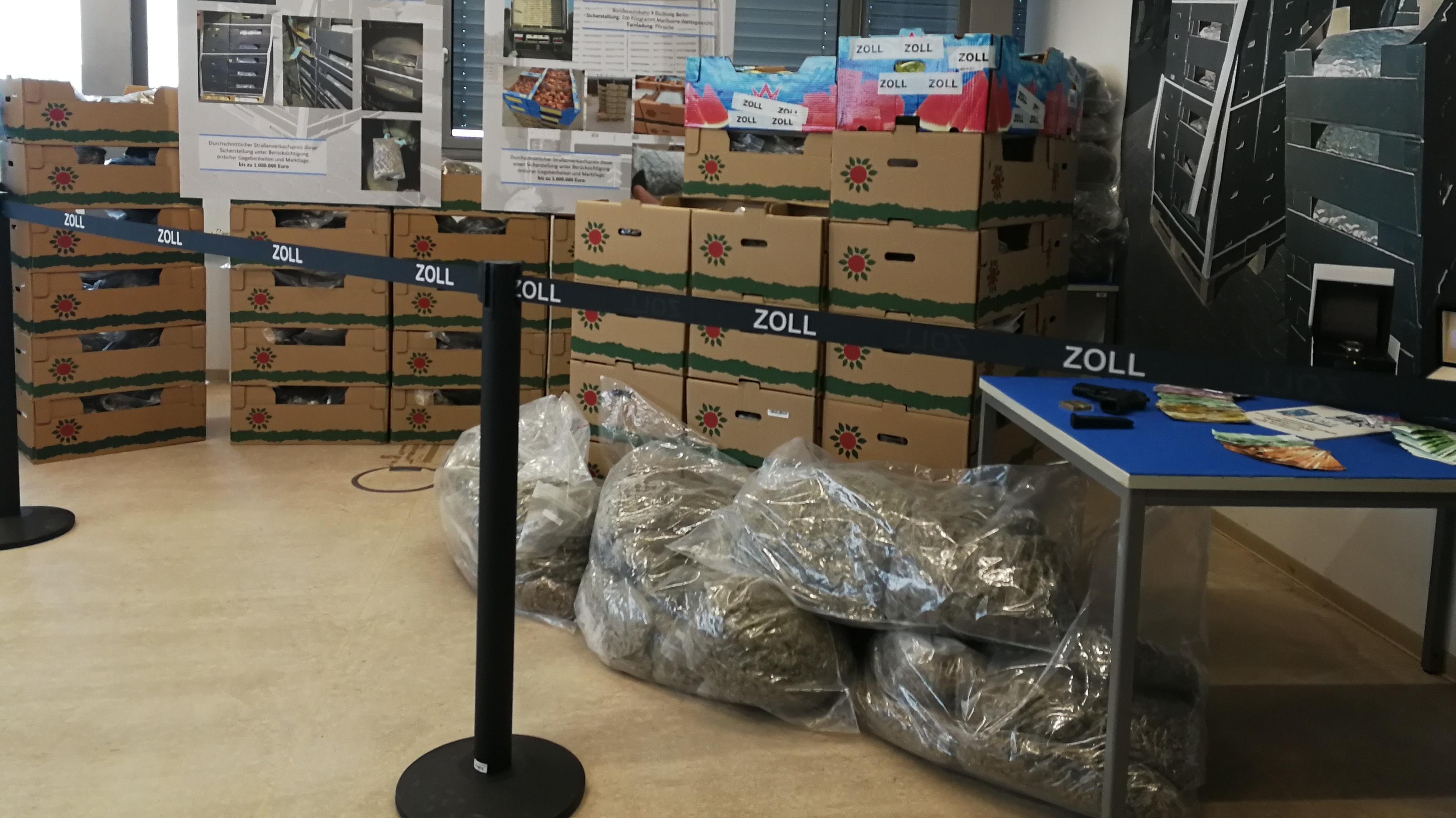 Fund der Ermittlungsgruppe Rauschgift: Kistenweise Marihuana