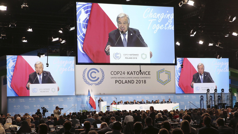 UN-Generalsekretär Antonio Guterres spricht in Kattowitz