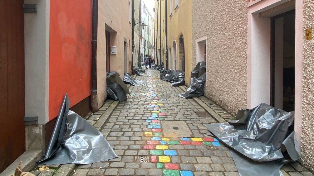 Bild von Hochwassermaßnahmen in Passau