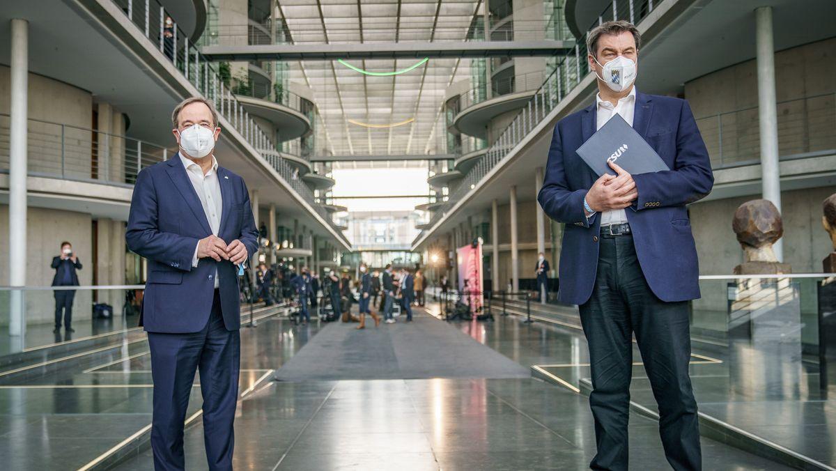 Armin Laschet und Markus Söder konkurrieren um die Kanzlerkandidatur