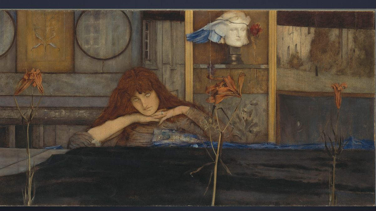 Fernand Khnopff, I lock my door upon myself, 1891,