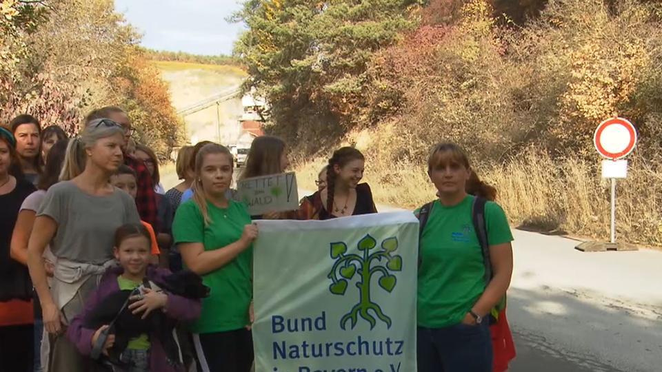 Aktivisten des Bund Naturschutz