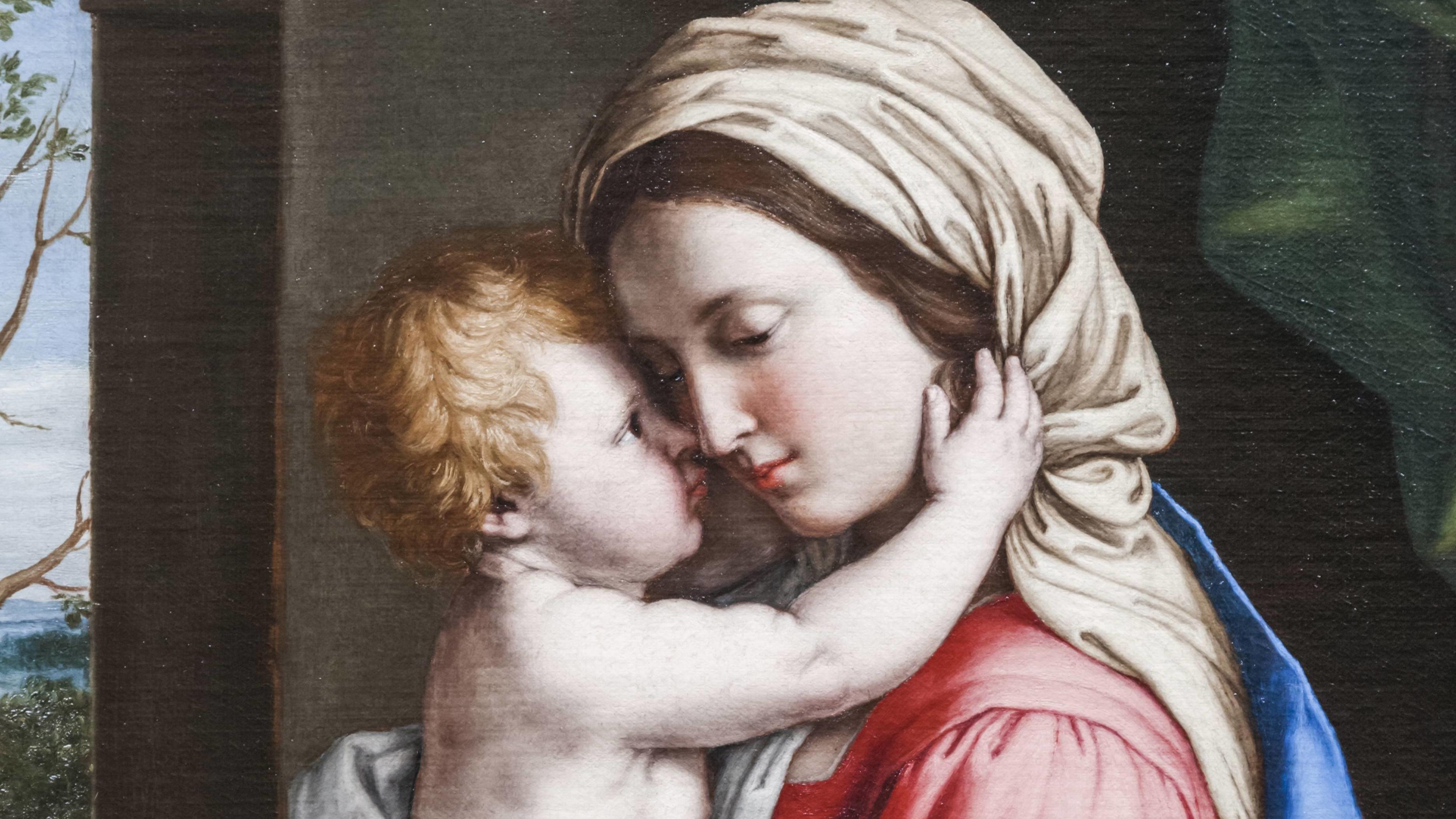 Jungfrau und Kind, Bild von Sassoferrato