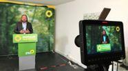 Für die bayerischen Grünen ist es eine Premiere: zum ersten Mal halten sie ihren kleinen Parteitag im Netz ab.  | Bild:BR/Johannes Reichart