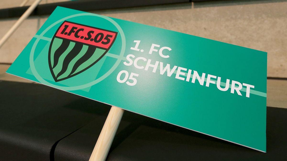"""Schild """"1. FC Schweinfurt 05"""""""