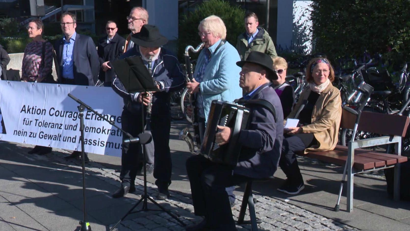 Kundgebung gegen Rechts in Erlangen.