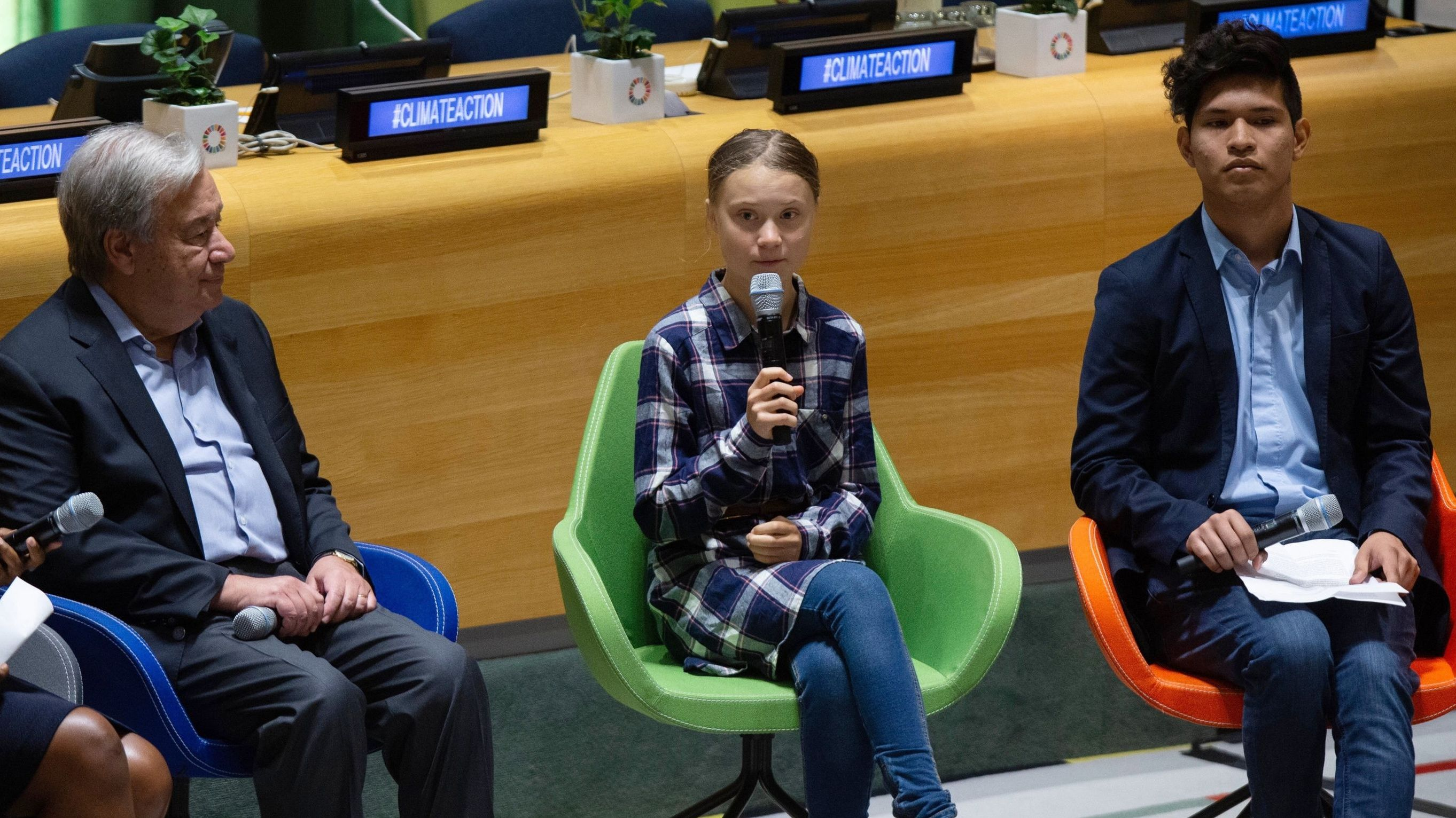 Greta Thunberg beim UN-Jugendklimagipfel in New York