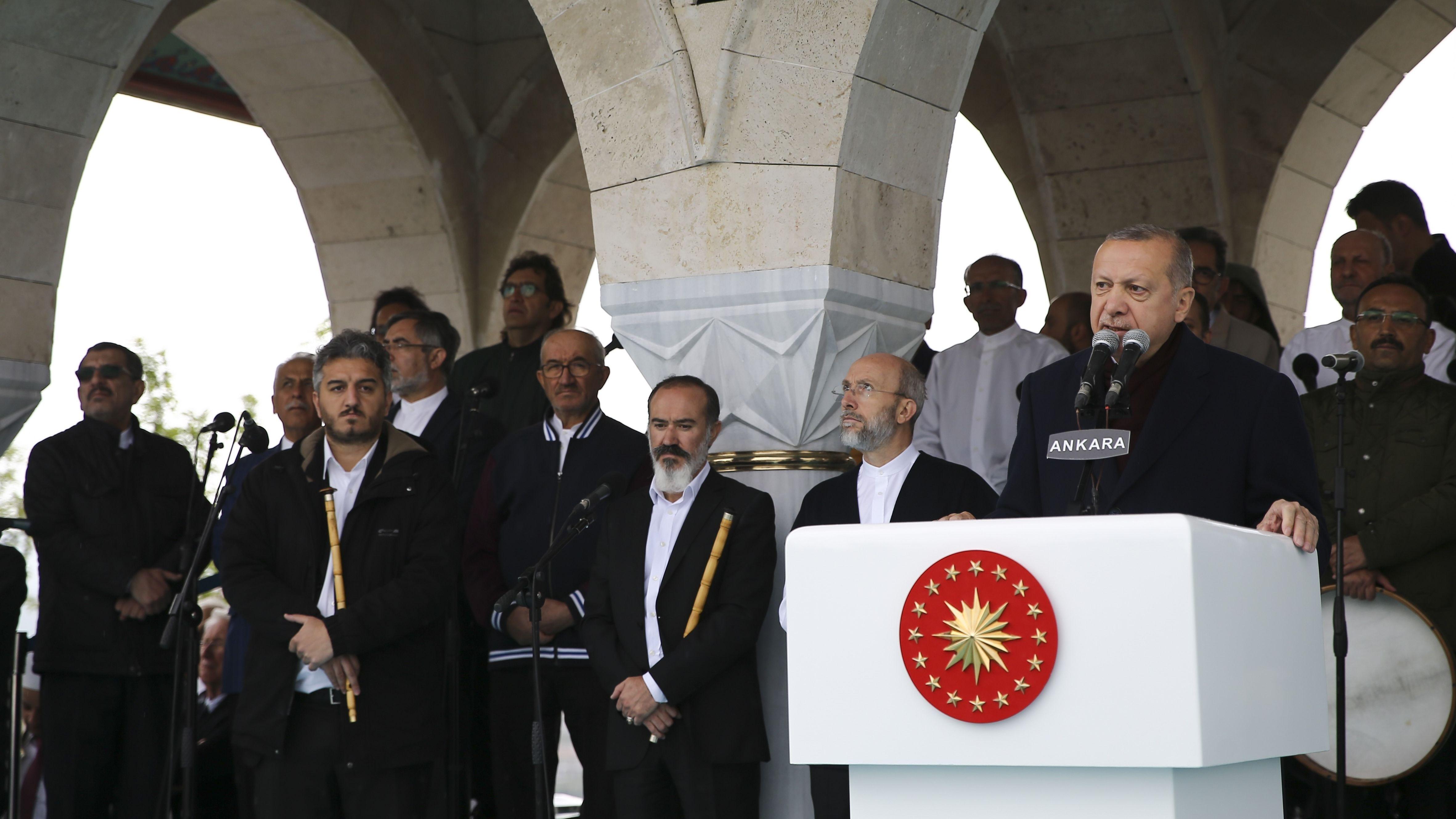 Der türkische Präsident Erdogan bei einer Rede in Ankara