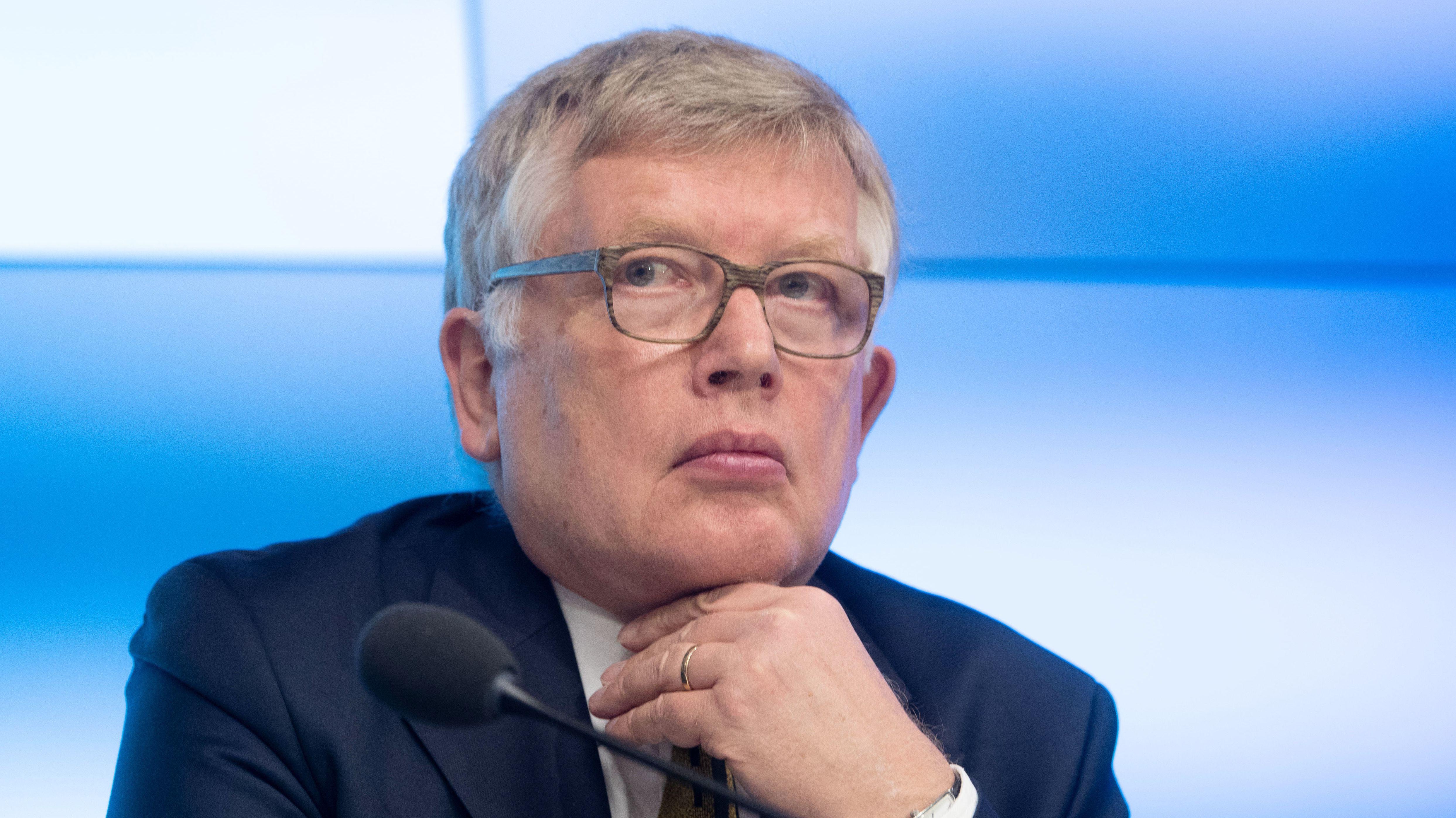 Joachim Wieland, Verfassungsrechtler, aufgenommen während einer Pressekonferenz.