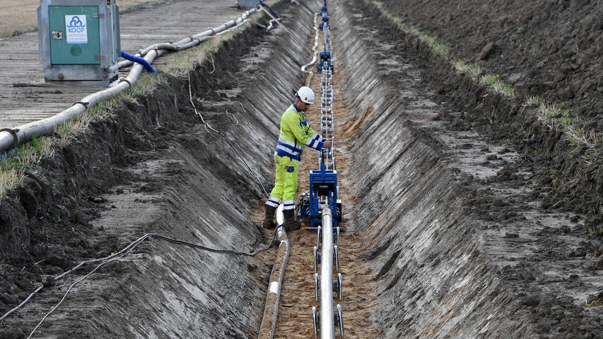 Gleichstrom-Erdkabel für die Stromtrasse NordLink in der Nähe von Büsum