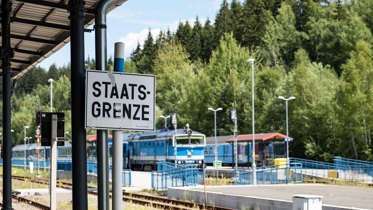 Bahnhof in Bayerisch-Eisenstein.