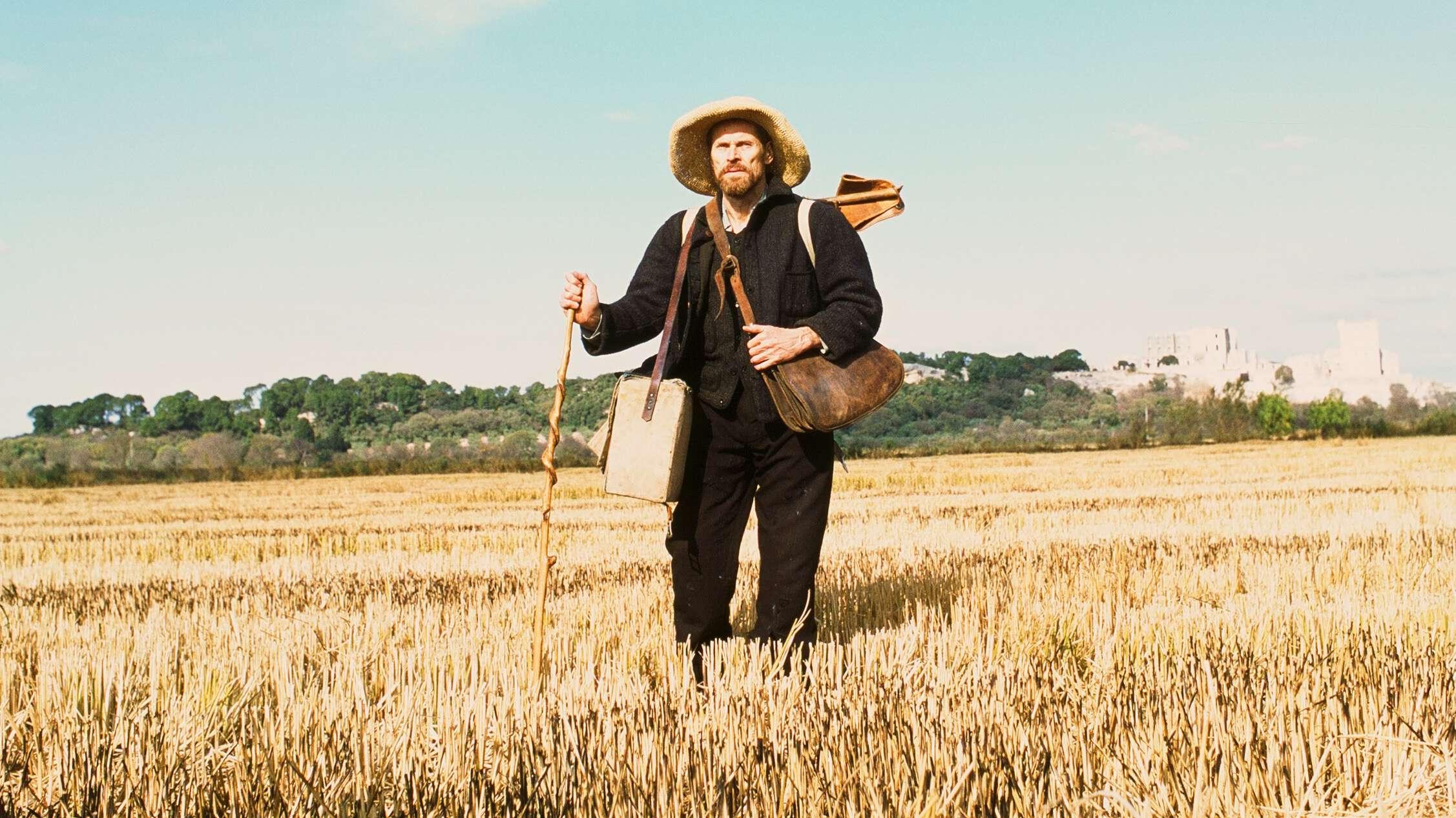 Van Gogh mit Mal-Ausrüstung unterwegs