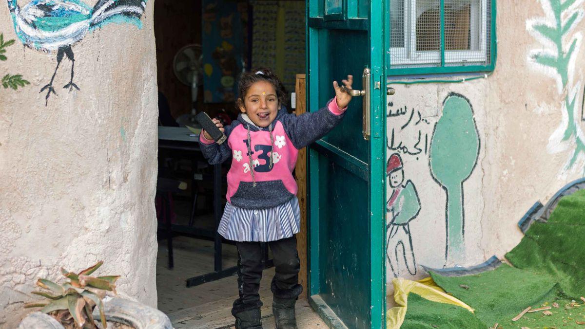 Noch lernen die Kinder in der Schule in Khan al Achmad