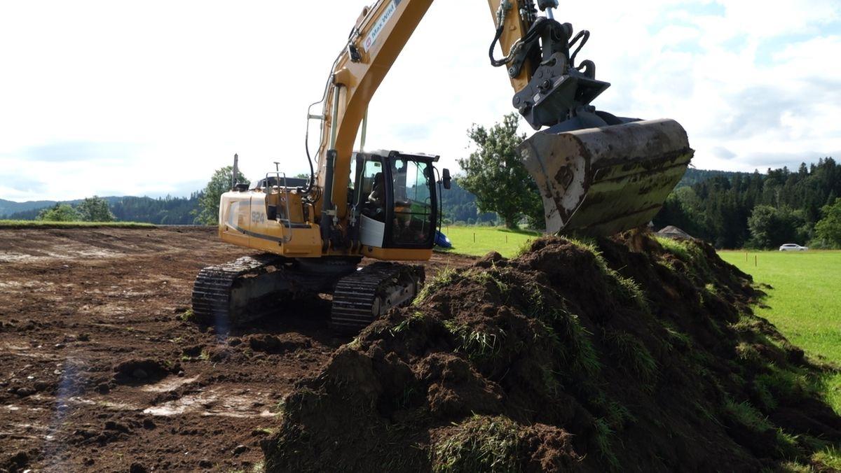 Bauarbeiten am Gewerbegebiet bei Gestratz