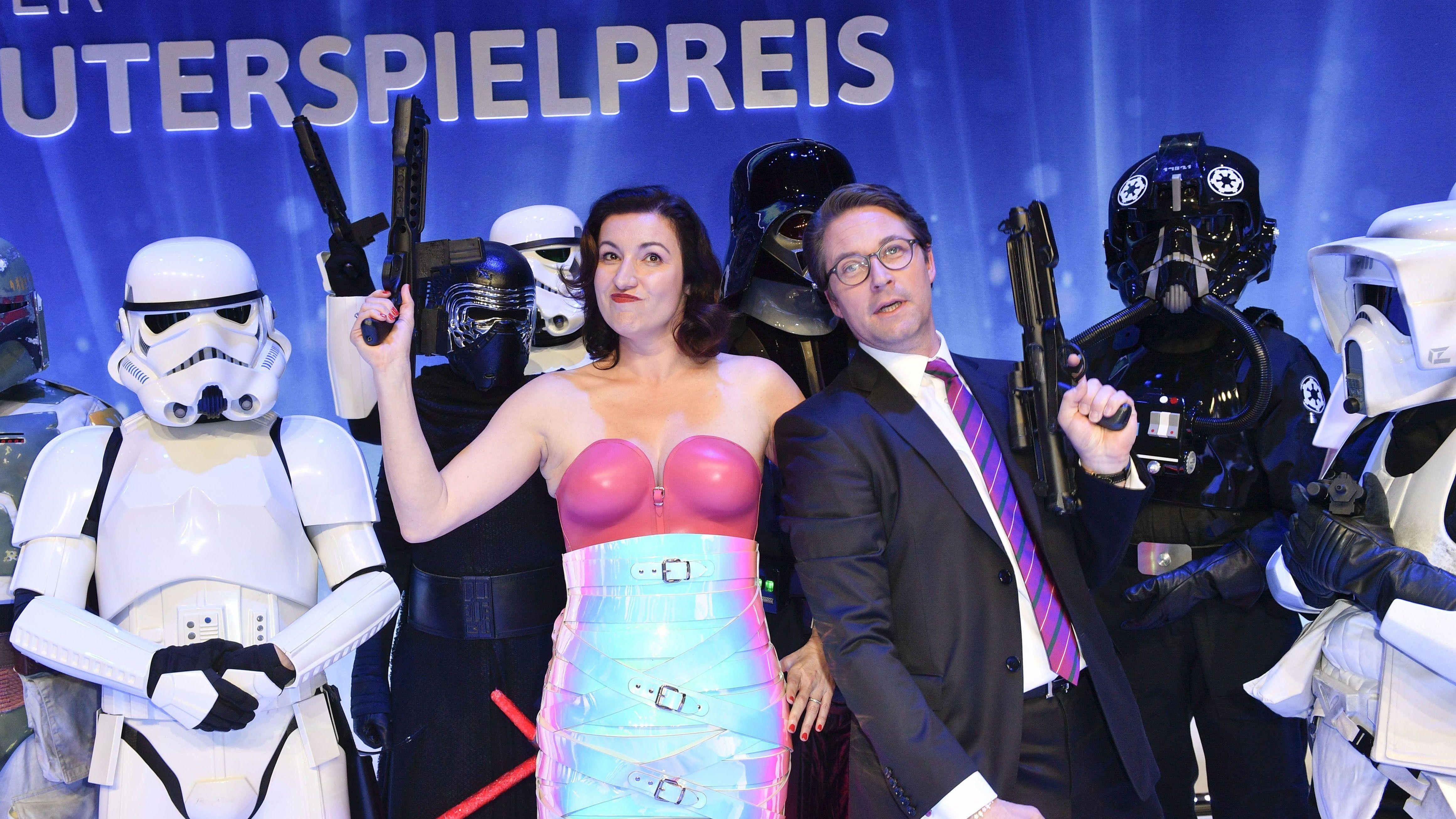 Politikerauftritt beim Computerspielepreis