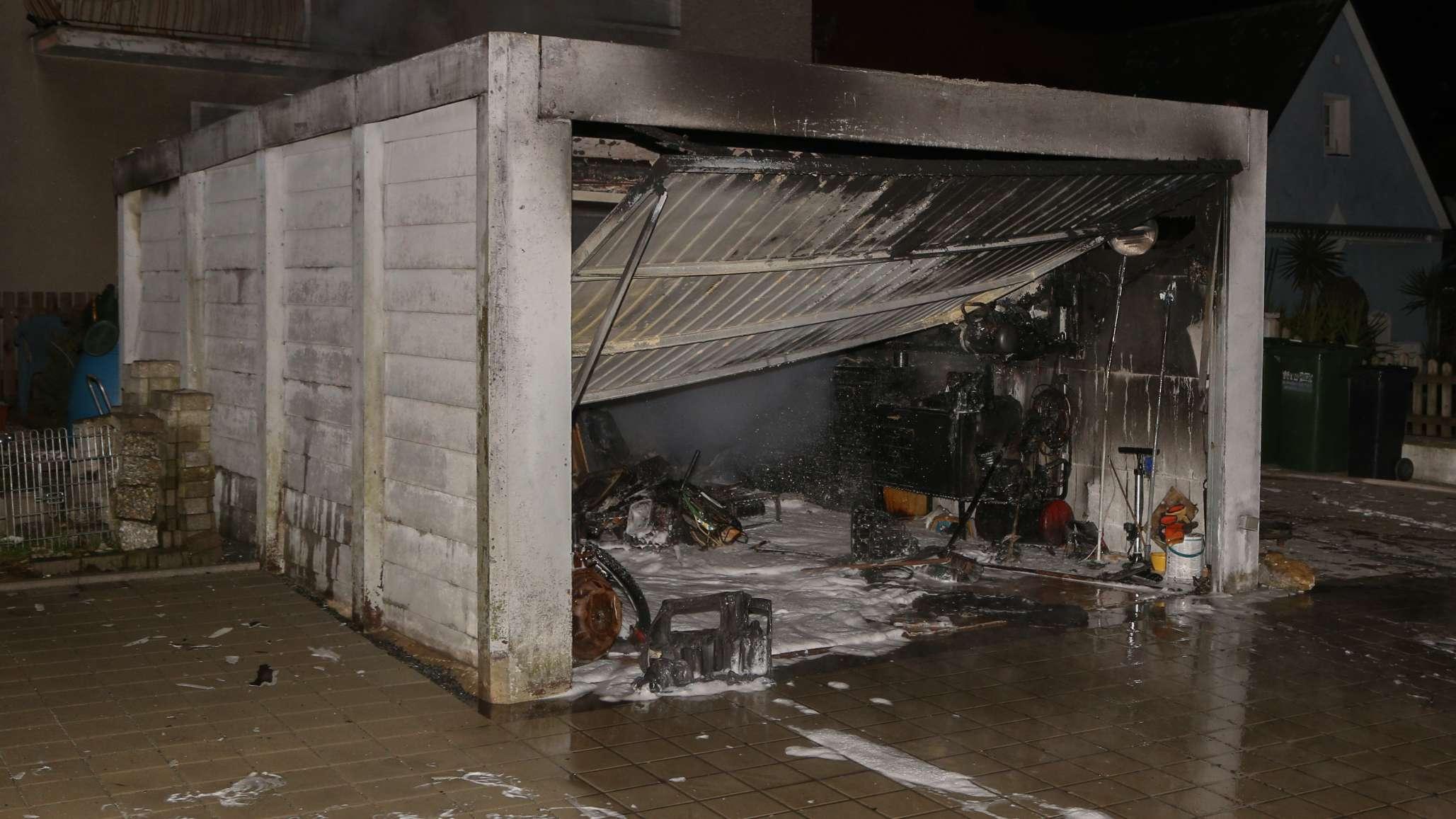 Die ausgebrannte Garage