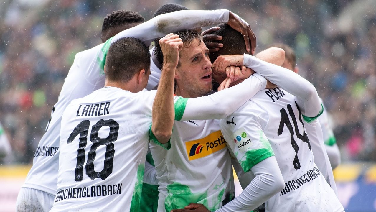 Borussia Mönchengladbach jubelt.