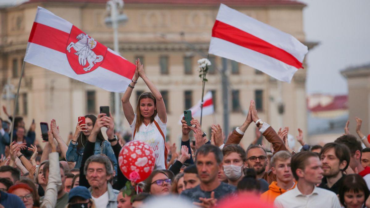 Protestierende in Weißrussland.