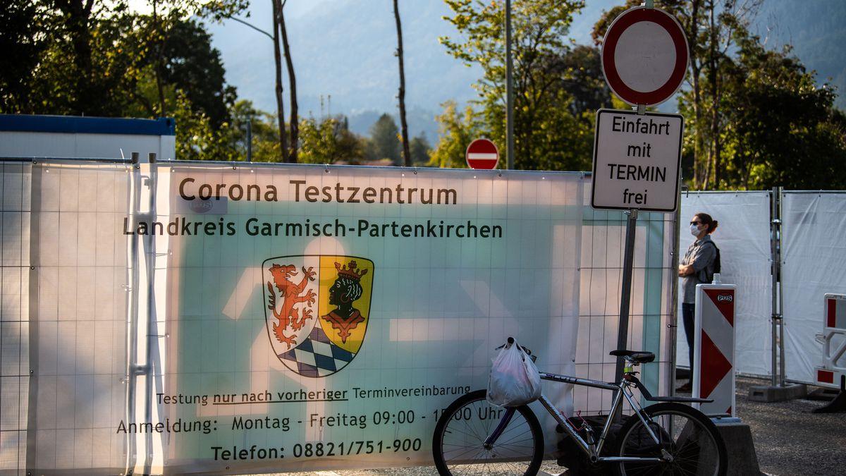 Corona-Testzentrum in Garmisch-Partenkirchen.