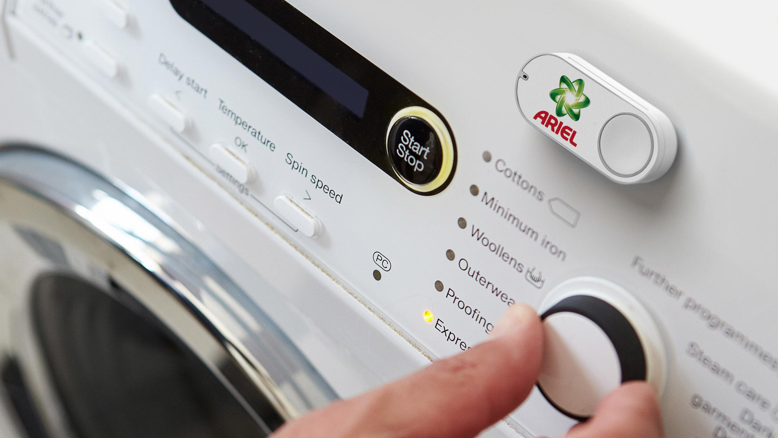 Dash-Button für Waschmittel an einer Waschmaschine