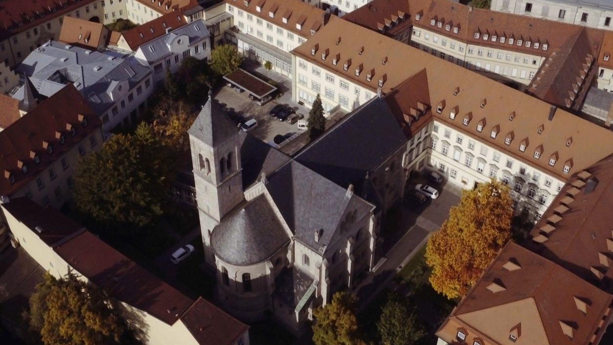 Das Kloster-Areal in Würzburg. Die Köngregation der Erlöserschwestern hat hier ihren Sitz.